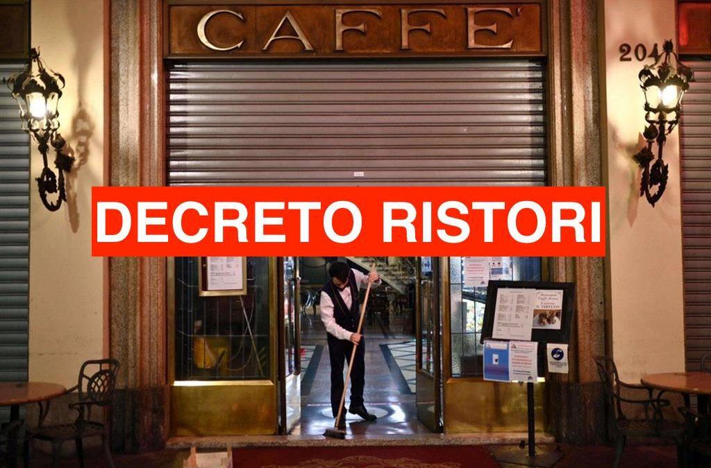 Decreto Ristori (Misure Covid19) – Ottobre 2020