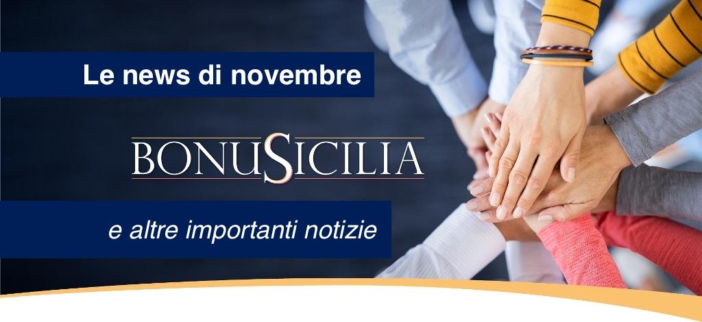 Promemoria scadenze mese di novembre, novità BonuSicilia, memo utili, adempimenti registratori telematici, sgravi contributivi e news bandi